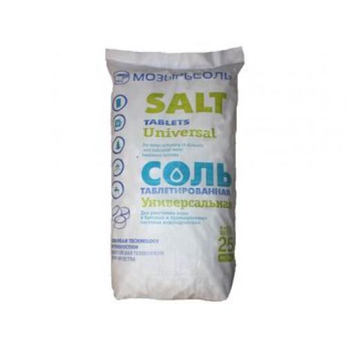 """Таблетированная соль """"Мозырьсоль"""" мешок 25 кг"""